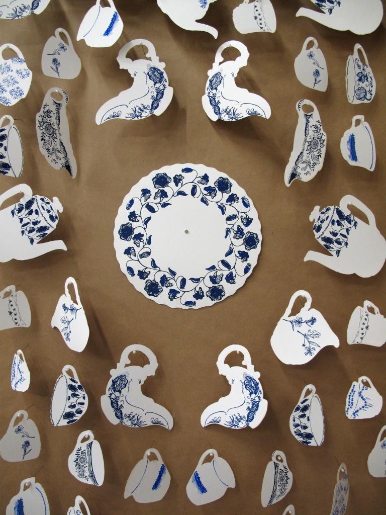 """White Gold: Blue"", Colonial pattern detail, 2018"